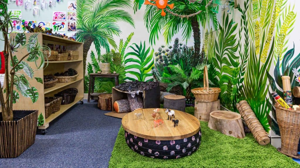 Nature corner at Raising Stars Early Learning Centre